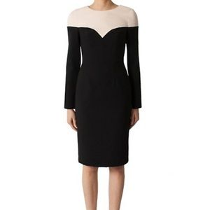 Black Halo Marla Colorblock Sheath Dress Size  8